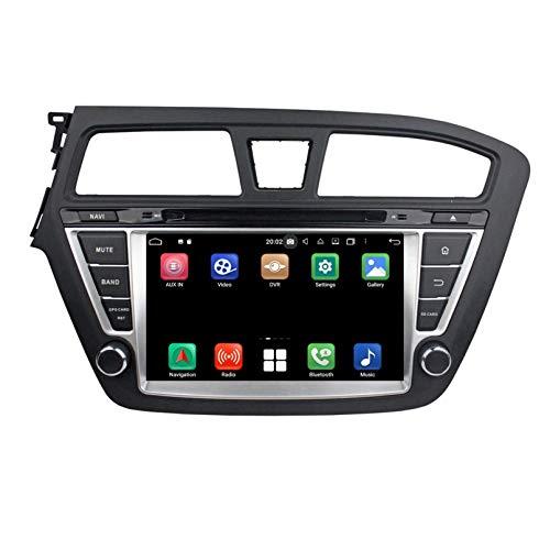 8 Zoll Touchscreen Android 10.0 Autoradio fuuml;r Hyundai I20(2014-2018) LHD, 4 GB RAM+64 GB ROM, DVD Player Bluetooth GPS Navigation DAB+ Radio Haupteinheit