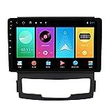 ADMLZQQ Android 10.0 Autoradio In-Dash GPS Navigation Für SsangYong Korando 2010-2013, 9 Zoll Touchscreen Bluetooth Carplay FM AM USB RDS DSP Lenkradsteuerung Rückfahrkamera Lüfter,M100s 4core 1+16g