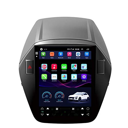 SDFLKH Vertikaler Bildschirm Im Tesla-Stil Android10 Auto-Stereo-GPS-Navigation Für Hyundai IX35 2010 2015 Multimedia Player 4G WiFi Keine DVD(Size:Acht-Kern,Color:WiFi 4+64G)