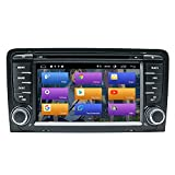 N A BOOYES Für Audi A3 S3 RS3 Android 10.0 Doppel Din 7' Auto DVD-Player Multimedia GPS-Navigation Auto Radio Stereo Auto Auto Play/TPMS/OBD / 4G WiFi/DAB/SWC