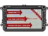 M.I.C. AV8V7-lite Android 11 Autoradio mit navi Ersatz für VW Golf t5 touran Passat RNS RCD Skoda SEAT: DSP DAB Plus Bluetooth 5.0 WiFi 2 din 8' IPS Bildschirm 2G+32G USB Auto zubehör europakarte