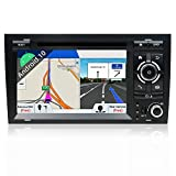 JOYX Android 10 Doppel Din Autoradio Passt für Audi A4 2003-2011 GPS Navigation | Rückfahrkamera Canbus KOSTENLOS | 2G+32G | 7 Zoll | MIT Lenkradsteuerung 4G WiFi DAB+ Carplay Bluetooth USB Mirrorlink