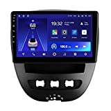 CWGMG Android 10.0 Autoradio GPS Navigation Compatible with Peugeot Accessories for (2005-2014) 107 HD Touchscreen Auto Radio Player Unterstützt WiFi/Bluetooth,6g+128g