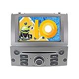 ZWNAV Android 9.0 Auto Stereo GPS Navigation HD 1080P Auto DVD-Player Doppel DIN für Peugeot 407 2004–2010 mit 7 Zoll Bildschirm, Radio, Bluetooth, WiFi, OBD (4G + 64G 8 Core, Grau)