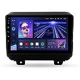 STTTBD 9'Android 10.0 2 Din Autoradio Navi Für Jeep Wrangler 4 JL 2018 2019 Unterstützung Bluetooth USB WiFi Touchscreen Multimedia Videoplayer GPS Navigation Autoradio(Color:WiFi 4G+64G)