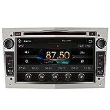 AWESAFE 2-DIN Autoradio mit Navi für Opel, 7 Zoll Touchscreen Radio unterstützt Lenkrad Bedienung USB SD RDS Bluetooth -Grau
