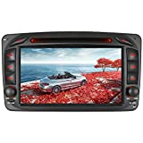7' AUTORADIO DVD GPS Navigation NAVI USB SD BT Autoradio VMCD CD Wechsler DAB+ Für Mercedes Benz C Klasse W203 CLK W209 W463 Vito WM (Radio)