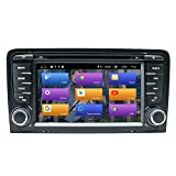 BOOYES Für Audi A3 S3 RS3 Android 10.0 Doppel Din 7'Auto DVD-Player Multimedia GPS-Navigation Auto Radio Stereo Auto Auto Play/TPMS/OBD / 4G WiFi/DAB/SWC