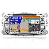 JOYX Android 10 Autoradio Passt für Ford Focus/Mondeo/S-Max/C-Max/Galaxy Navigation -GPS 2 Din - Canbus Rückfahrkamera KOSTENLOS - 2G+32G - 7 Zoll - MIT Lenkradsteuerung 4G WiFi Bluetooth DAB Carplay