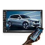 Doppel Din Autoradio GPS Navigation,Autoradio Bluetooth 7 Zoll Quad-Core Android 8.1 Touchscreen im Dash Navigation Autoradio Video Player mit GPS WiFi Mirror Link Backup-Kamera
