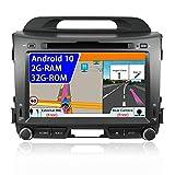 JOYX Android 9.0 Doppel Din Autoradio Passt für Kia Sportage 2010-2015   Rückfahrkamera Canbus KOSTENLOS   8 Zoll 2G+32G   Unterstützen Lenkradsteuerung 4G WiFi DAB+ Carplay Bluetooth USB Mirrorlink