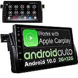 IYING Android 10 Autoradio Stereo GPS Navigation passt für BMW E46 M3 Rover 75 MG ZT 9 Zoll HD mit DSP AM FM RDS Lenkradsteuerung Auto Audio Stereo