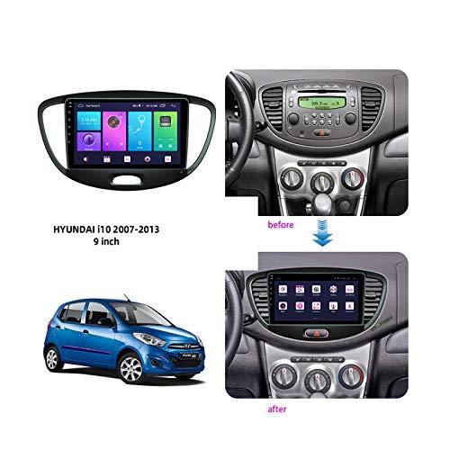 Sat NAV Android 10.0 Autoradio für Hyundai i10 2007-2013 GPS-Navigation 9-Zoll-Headunit MP5 Multimedia-Player Radio Videoempfänger Tracker 4G WiFi DSP Mirrorlink