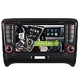 Android 10.0 2+32GB Dual-Tuner Android Auto+Carplay Bluetooth 5.0 DVD GPS Navigation Autoradio für Audi TT TTS TT RS WiFi 4G OBD2