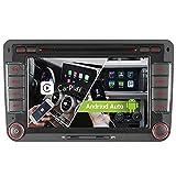 7' 2-Tuner Android 10.0 DVD GPS 2+32GB Android Auto+Carplay BT 5.0 DSP Autoradio Navigation für VW Passat B6 Golf V VI 5 6 Touran Tiguan Multivan T5 Transporter Polo Caddy Skoda Seat WiFi 4G OBD2