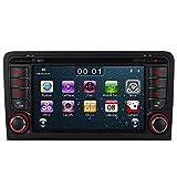 7' AUTORADIO MIT 3G DVD GPS Navigation USB SD Bluetooth Autoradio CD Moniceiver+Bluetooth+ Dual Zone+Subwoofer+DAB+VMCD Für Audi A3 S3 RS3 8P 8V 8PA (Bilaterale Taste) (Version 1)