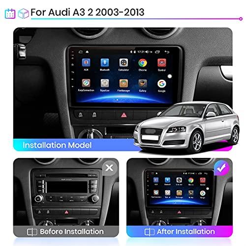 Autoradio Mit Navi Auto Player Radio Autoradio Bluetooth Navigations GPS Für Audi A3 2 8P 2003-2013 Auto Zubehör Einfügen Und Verwenden Car Video Player Carplay Radio-Videoempfänger