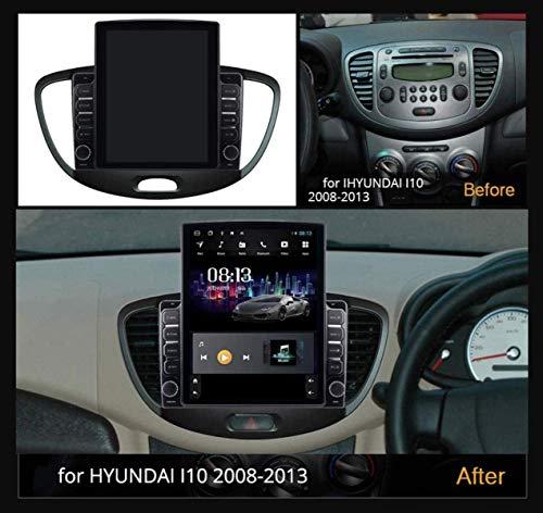 LYHY Vertikaler Android 9.1-Bildschirm 9,7-Zoll-GPS-Auto-Browser für Hyundai Grand I10 2007-2013 - FM-Autoradio, Internetverbindung, DSR-Mount-DVR/Freisprechanrufe