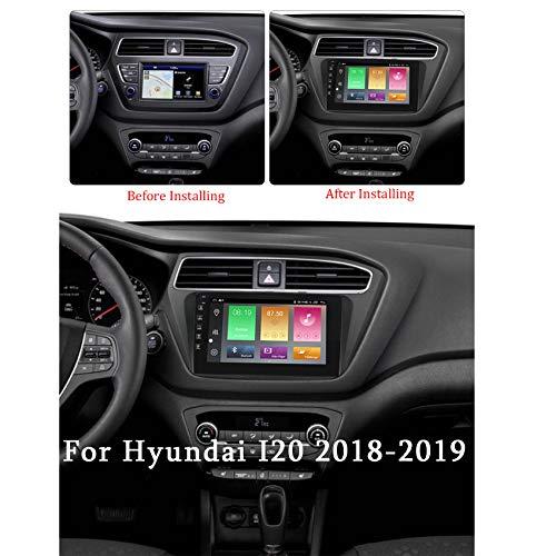 Android 10 Autoradio Doppel Din mit GPS Navi für Hyundai I20 2018-2019 HD touch screen Eingebautes carplay+DSP(M300/PX6) Unterstützt Lenkradsteuerung Spiegellink FM/AM,Px6,4+64G