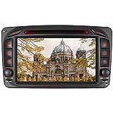 Junhua für Mercedes Benz W209 W203 W168 W463 Viano W639 Vito Vaneo-Serie Doppel-Din-Head-Einheit 7-Zoll Screen Autoradio GPS Radio mit kostenloser Kartenkarte Ausbau Video Anleitung