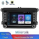 Luckdragon Autoradio mit Navi für Volkswagen, Android Auto Navigation Stereo 7 Zoll 2 Din Autoradio für VW Golf/Polo/Tiguan/Passat/b7/b6/SEAT/leon/Skoda/Octavia (Keine Kamera)