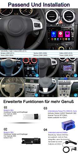 Android 10 Octa-Core 4GB RAM+64GB ROM Carplay+Android Auto Autoradio DVD GPS Navigation 7' Radio WiFi Bluetooth für Opel Vauxhall Astra H G Antara Vectra Corsa C D Zafira (Klavier Schwarz)