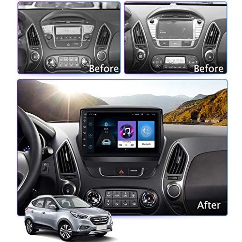 FAIRPrin 9 Zoll Android 8.1 Auto Multimedia Player GPS Navigation Für Hyundai IX35 2010-2017, FM/WiFi/Spiegelverbindung/Bluetooth/USB/Rückfahrkamera,8 core,4G+WiFi: 4+64G